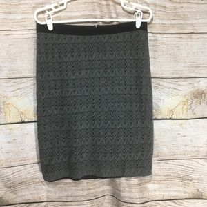 113 Ann Taylor Grey skirt size 8 stretch suit pat
